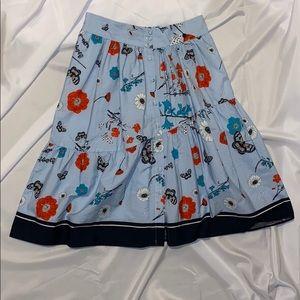 Large Zara Floral Print Skirt